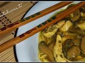 Ricetta cinese: Pollo funghi bambù.