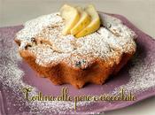 Tortina alle pere cioccolato: delizia leggera salutare!!!