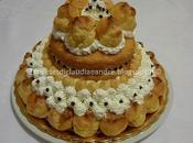 Torta trionfo bignè alla crema chantilly aroma limone