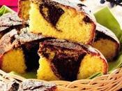 Torta marmorizzata alla ricotta cacao
