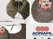 Scaldacollo ferri punto coste zigzag Candy Classic Adriafil spiegazione Knitted rickrack stitch neckwarmer with free pattern