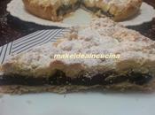 Crostata sbriciolata crema pasticcera cacao mandorle