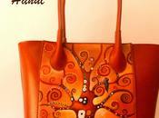 Ba80 Borsa dipinta mano, L'albero della vita, Klimt