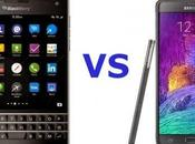 Samsung Galaxy Note Blackberry Passport: video confronto italiano