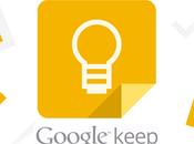 Google Keep: Material Design condivisione note.....la rincorsa Evernote continua...?!