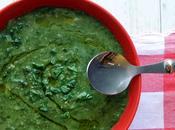Minestra verdura: porri spinaci. green mood della domenica.