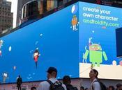 colossale tabellone Google appare Times Square
