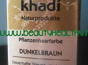 Tinta vegetale Khadi castano scuro, recensione applicazione