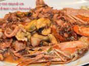 Riso rosso integrale frutti mare pesce barracuda
