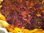 Torta salata radicchio, pinoli curcuma