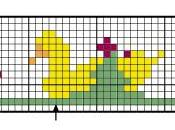 Piccoli ornamenti ricamare punto croce