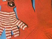 Lavori l'uncinetto: Guanti calzettoni rossi bianchi