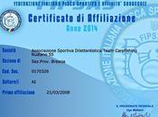 Certificato affiliazione 2014