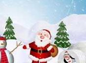 Babbo Natale nella terra pinguini