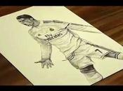 (VIDEO)Pen Drawing Cristiano Ronaldo Real Madrid C.F. Freehand