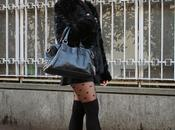 Black faux coat