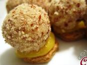 Tartufini tofu cioccolato bianco biscotto integrale salsa d'arancia: coccole dell'anima