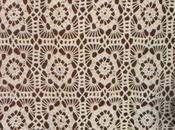 Lavori l'uncinetto: Tenda motivi quadrati bordo trifoglio