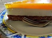 Cheese cake fredda allo yogurt purea ananas.