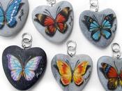 Ciondoli marmo dipinti mano farfalle!