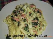 Tagliatelle spinaci salmone