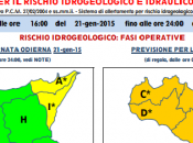 Protezione civile: allerta meteo arancione pre-allarme piogge temporali sulla Sicilia