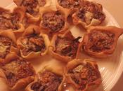 Mini quiche radicchio gorgonzola noci
