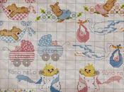 Schemi punto croce bambini neonati