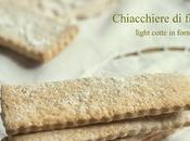 Chiacchiere farro light cotte forno