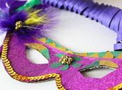 Maschere Carnevale washi glitterato piume