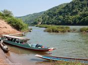 navigazione lungo Laos nord