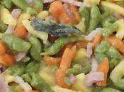 Spaetzle multicolor pancetta salvia