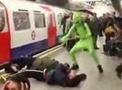 (VIDEO)Web Ironic Parody ''Football hooligans prevent Green boarding London metro train 2020.''