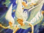 Schemi punto croce: Pannello angeli