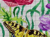 Tante farfalle ricamare punto croce