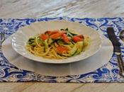 Spaghetto zucchine, trota affumicata limone