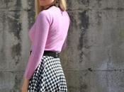 Outfit: pied-de-poule round skirt
