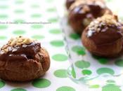 Bignè cacao ripieni cioccolato bianco copertura gianduia nocciole pasta choux Omar Busi