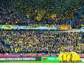 (VIDEO)10,000 Borussia Dortmund fans away Hannover Choreografy Pyro 21.3.2015 #thisisfootball