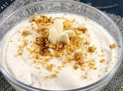 Crema fredda caffè mandorle amaretti Cold coffee cream with almonds
