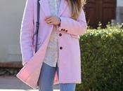 Fluffy pink coat