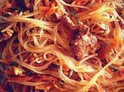 Spaghetti soia carne verdure ricetta cinese (面条)