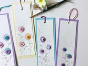 Come realizzare segnalibro festa della mamma acquerelli bottoni...tutorial primavera