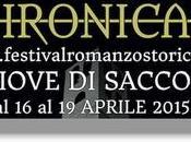 Chronicae 2015. Aprile, primo Festival Internazionale Romanzo Storico