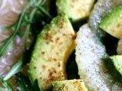 Insalata avocado, rucola pompelmo semi lino