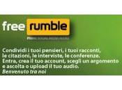 FreeRumble, nasce primo social media audio