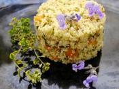 Come preparare ottimo cuscus verdure saltate, fiori erba lepre timo limone