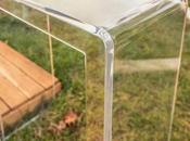 Pillole plexiglass Consolle trasparente plexiglass.