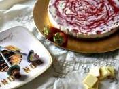 Cheesecake cioccolato bianco salsa alle fragole