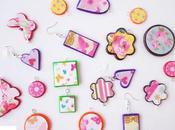 Ciondoli scarti fimo carta Pendants with Fimo paper scrap
